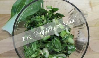 Bok Choy Ginger Salad – Gluten Free