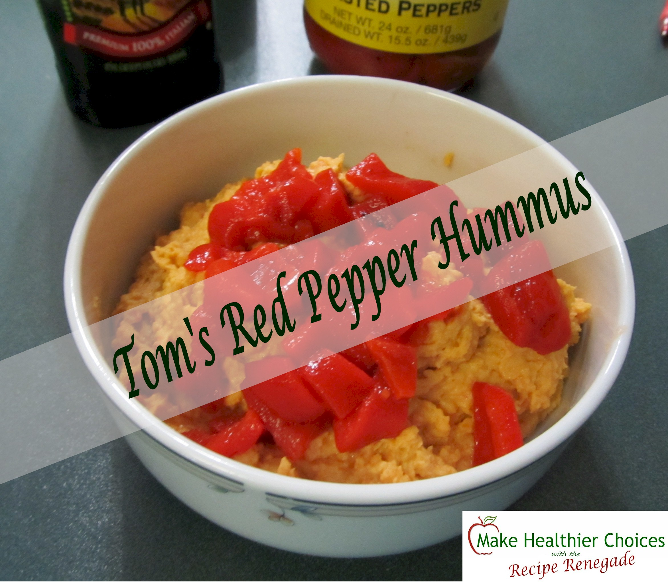 Tom 39 s red pepper hummus make healthier choices for Recipe red pepper hummus